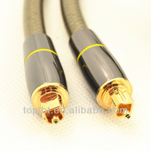 Gold connector Digital Fiber Optical Toslink Audio cable