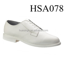 waterproof white leather military force uniform navy deck shoes in Bates