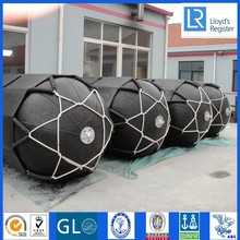 Ship to ship marine pneumatic fender with accessories eye plates.