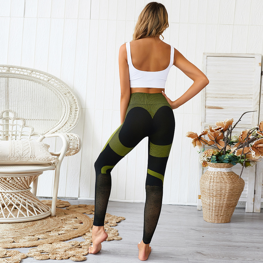 Europe and the United States explosions ass love seamless knitting yoga pants sports leggings fitness hip pants