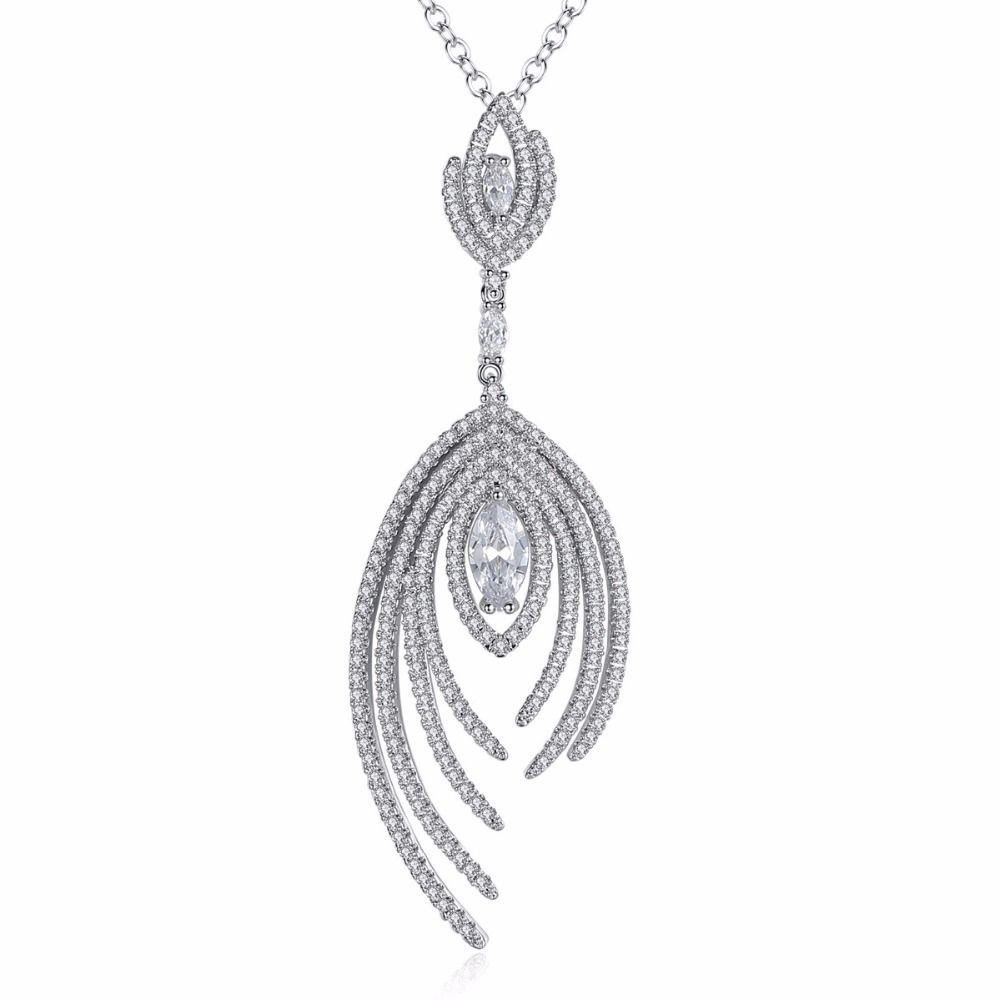 MSYO brand new arrival AAA zircon fashion design copper crystal rhinestone diamond pendant neckalce