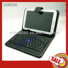 "7"" Tablet Case Micro USB Keyboard Leather Case for Android Tablet PC"