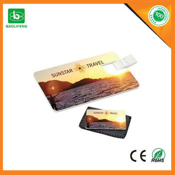 customized design credit card usb on promotion