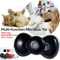 Hot New Multi-function Mini Bow Tie MMS Video GSM/GPRS Locator Time Tracker for Pets Dogs Cats Tracking Pet
