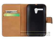 Luxury Genuine Real Leather Flip Phone Case Wallet Card Holder Cover for Motorola Moto G