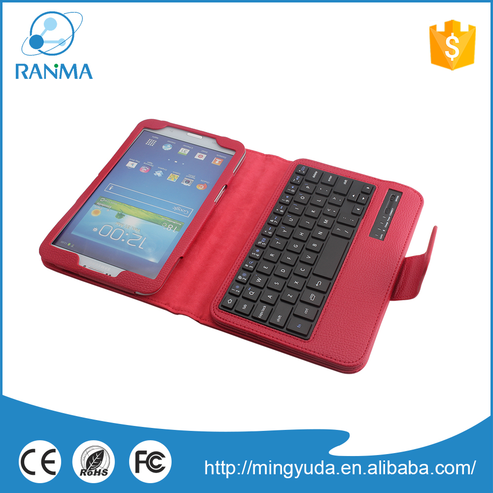 Leathe protective bluetooth smart keyboard case for samsung Tab 3
