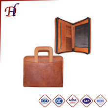China Factory Hot Sale Genuine Leather Material Briefcases&Unique Leather Portfolio&Briefcase