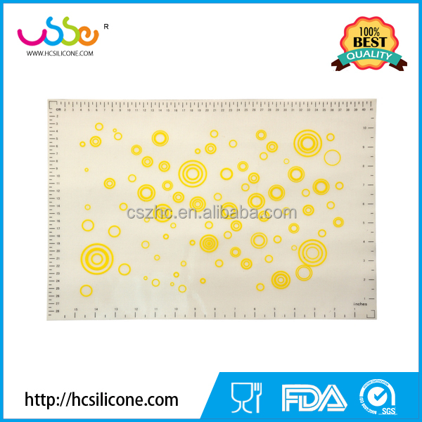 Food Grade Kitchen Silicone Baking Mat With Measuring Scale