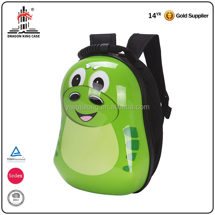 "14"" fashion colorful child travel bag lovely dinosaur school trolley luggage"