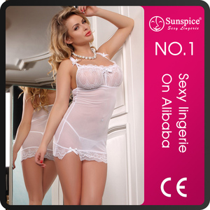 Sunspice european size sexy wedding night lingerie for mature women