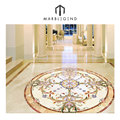 Charming design marble inlay hallway decorative tile flooring design