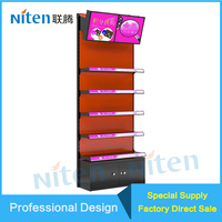 Customized cosmetic retail store makeup counter display for skin care products