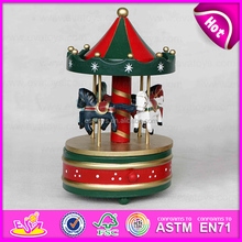 Top fashion handmade wooden merry christmas music box W07B009A-S