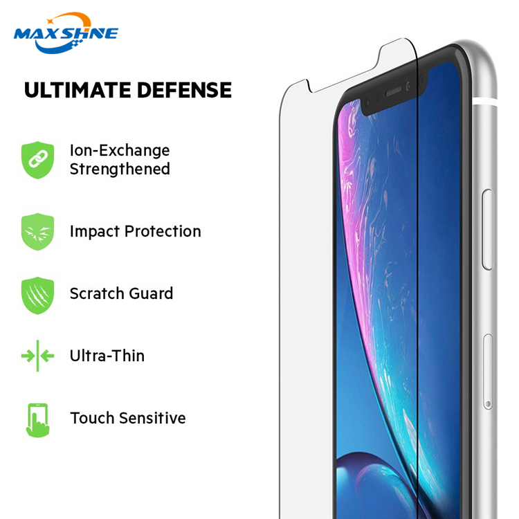 for iphone xr screen protector tempered glass xs x xs max 9H 2.5D Anti-shock Fingerprint glass screen tempered glass