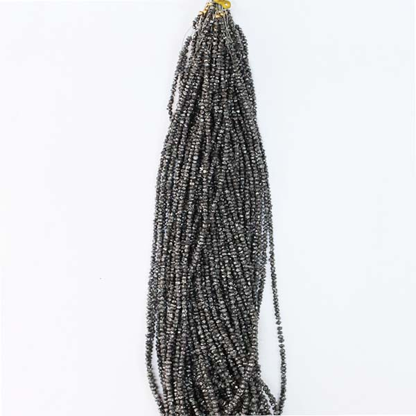 Rough Black Diamond Beads, Black Diamond String, Rough Diamond