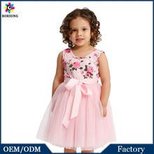 OEM 2015 Baby Cotton Frock Design New Style Flower Girl Dress For Baby Girl