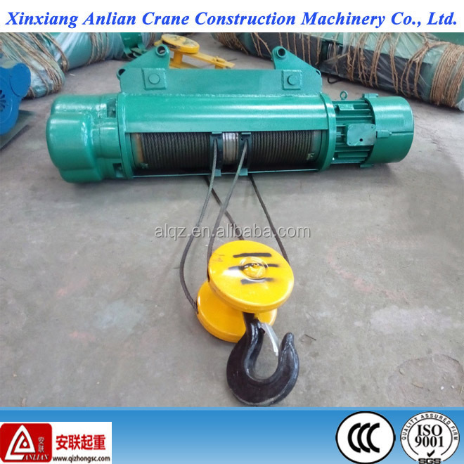 Wire rope lifting hoist 3T Pulling Electric hoist for crane