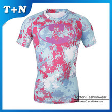 Custom sublimation rash guard ,men's tee shirt,oem fashion compression shirt