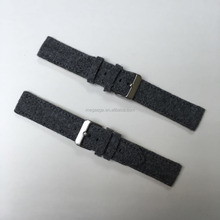 2018 trendy fashional elegant handmade grey color waterproof wool 20mm leather wrist watch band