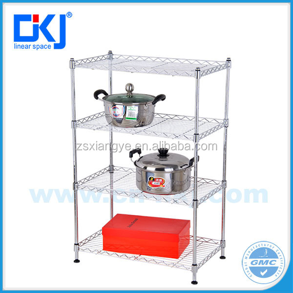 HKJ-C035 3 New Style Tiers sheet Metal Chrome Plated Home Storage Wire Shelving Wire Shelves,Wire Rack