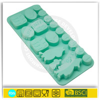 BSCI approved factories silicone ice cube cookie chocolate biscuit hard candy mold