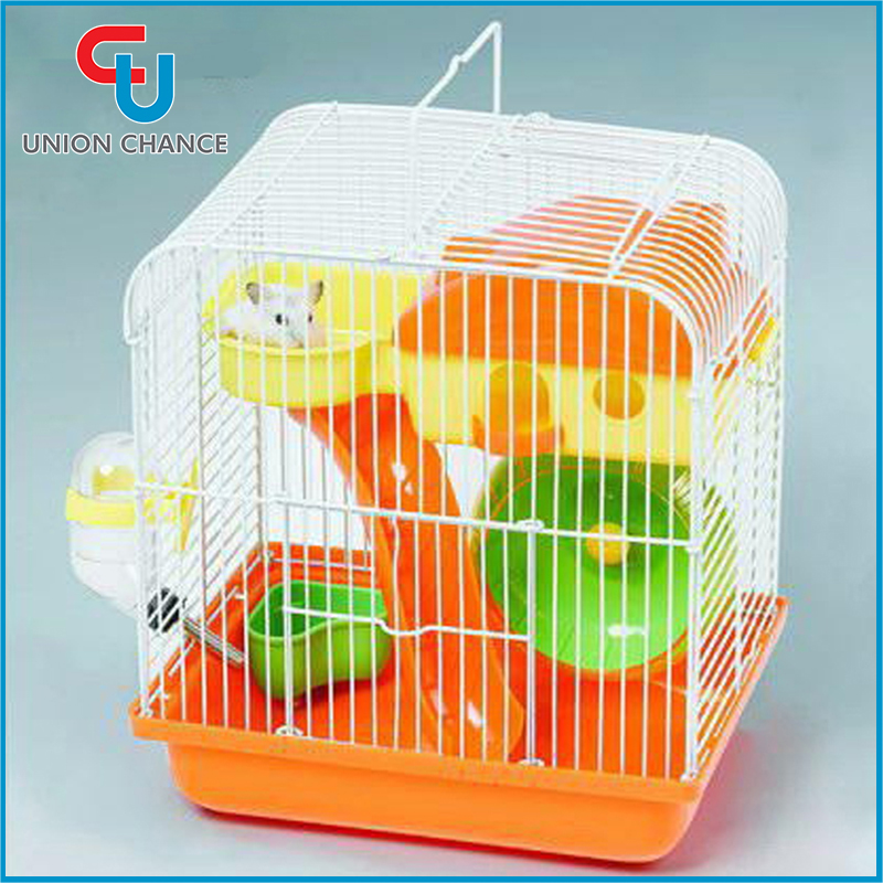 Protable Metal Wire Plastic Hamster Cage Multi Color Mouse Hamster Cage Mouse Breeding Cages