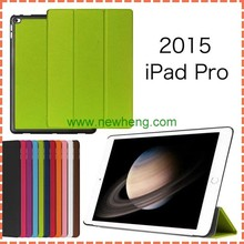 High quality Ultra Thin Leather Flip cover for ipad pro 12.9 tablet case