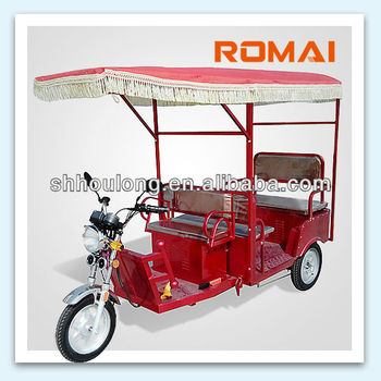 Romai e rickshaw e-tricycl pedical trisha trishaw Hot sale 650W brushless motor e-rickshaws LM-S007 In India