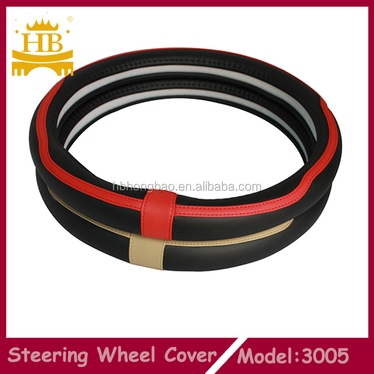 Auto <strong>parts</strong> fiber leather steering wheel cover
