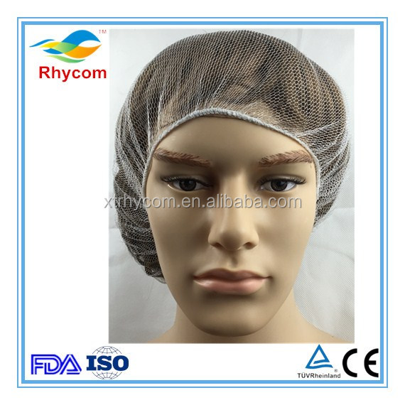 Cheap price suitable disposable nylon hair net