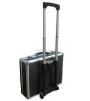 heavy-duty factory wholesale 4-wheels trolley case in aluminum laptop case with book