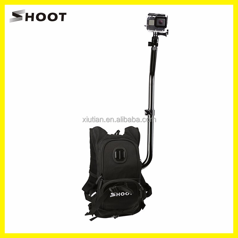 SHOOT Selfie Backpack for Gopro HERO 5 Outdoor Game Backpack Self Time Angle Backpack For Gopro Hero 5 SJ4000 Camera