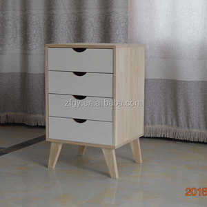Wooden night stand table cabinet