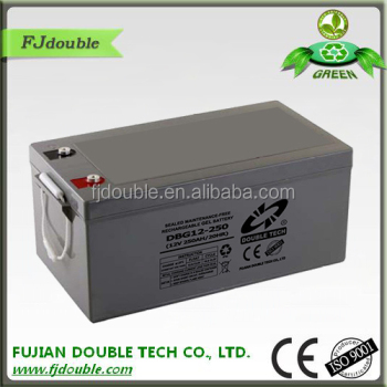 12v 250ah gel car battery EV battery solar battery