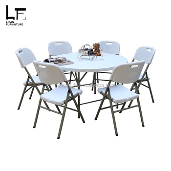 White Outdoor Furniture 4ft folding plastic portable table