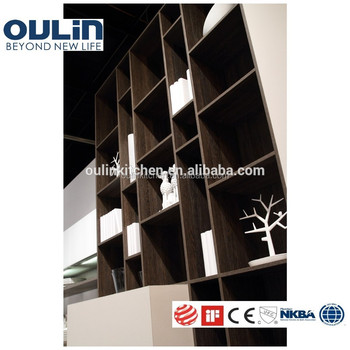 Wood veneer open bookshelf MDF board