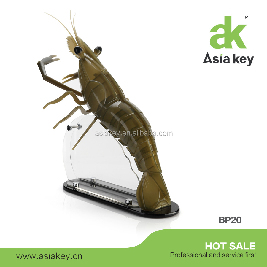 Prawn shape acrylic knife block