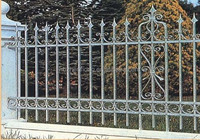 PVC Cheap Wrought Iron Metal Fence Galvanized Steel Picket Fence For Models of Gates RP