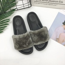 Handmade female fur wholesale fashion wild cool slippers new design