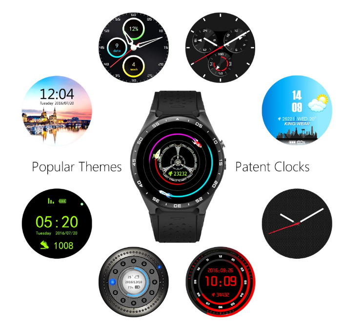 Bluetooth Android 5.1 smart watch 3G cell phone watch with WIFI, GPS,heart rate monitor