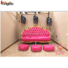 Beauty hair salon <strong>furniture</strong> waiting chairs barber shop reception sofa