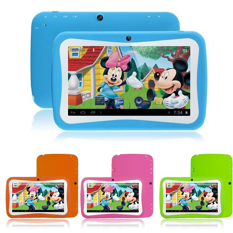 "Wholesale China Sale 1024*600 Dual Camera Bluetooth HD Android 7"" Inch Kids Children Tablet PC No 3G"