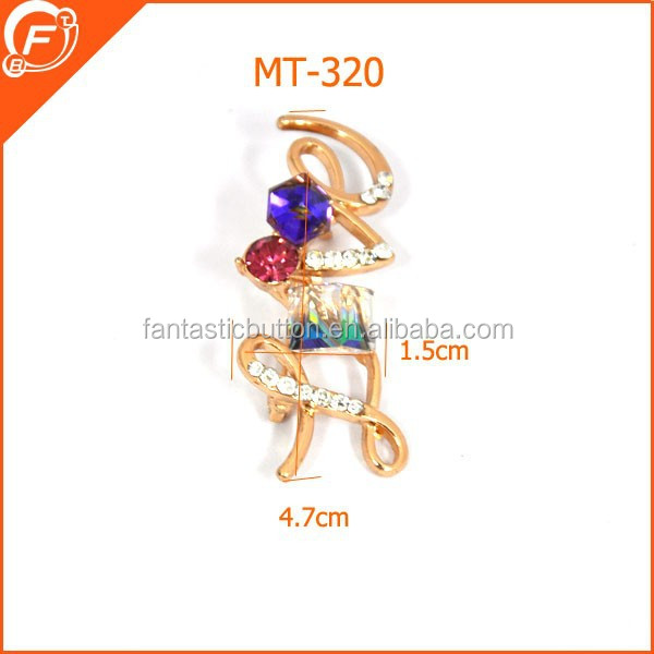fashion safety pin brooches for decorative metal trims