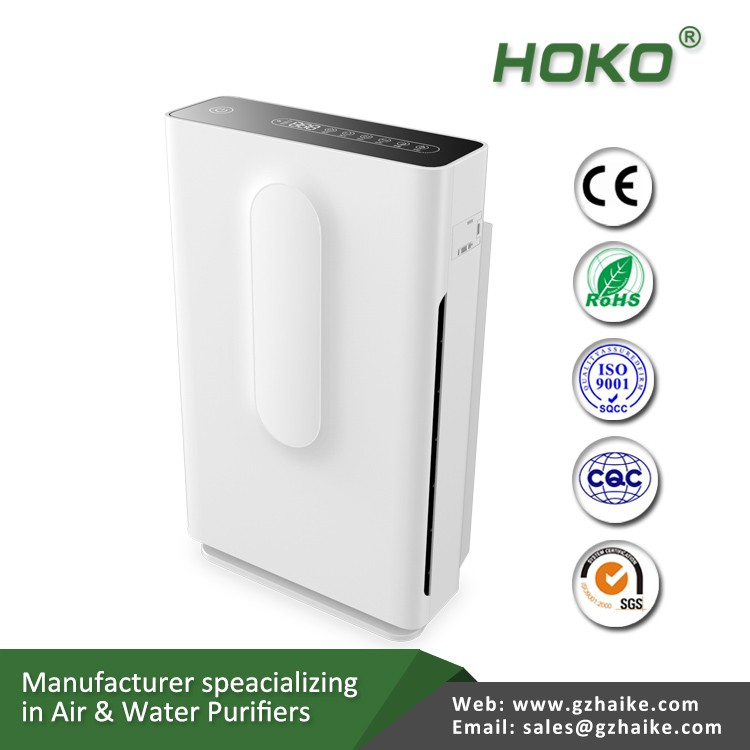 High density hepa filters Infrared induction key touch buttons portable compact air purifiers digital display pm2.5