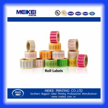 Custom Color Shipping Label direct thermal labels zebra