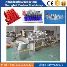 full auto PLC controller e-liquid filling packing machine/ ejuice filling screw capping