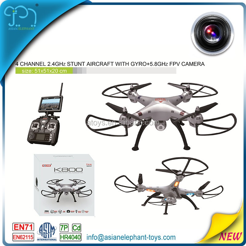 2.4GHZ 4CH 6-Axis Gyro Drone FPV For Kids 4K Camera Drone With Light