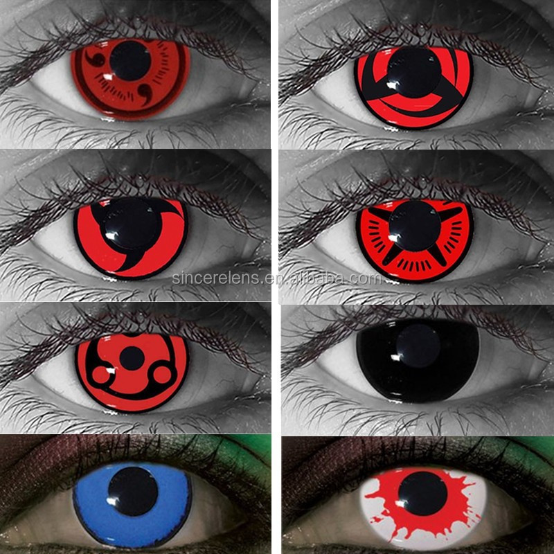 Accept paypal professional supplier wholesale helloween crazy red contact lens