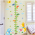 Fashion kids height growth chart wall sticker/Giraffe wall chart for baby learning/height measurement kid animals