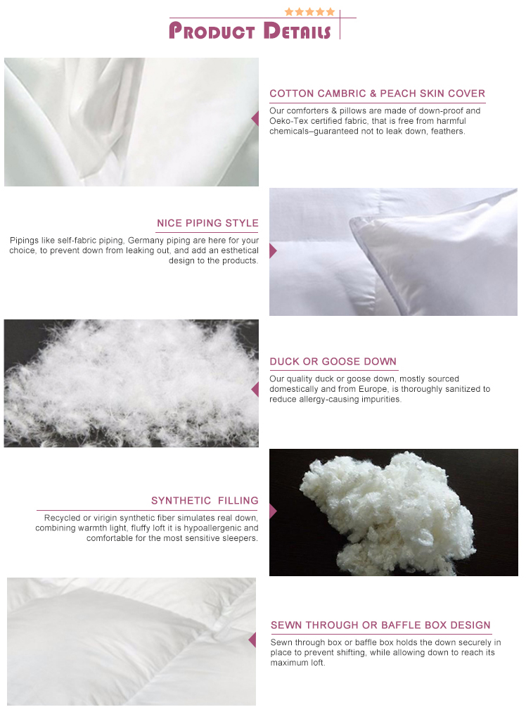 BS-0078 Luxury China Manufacturer Natural Comfort 100% Cotton White Bedding Set